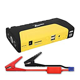 Zeusray Z7 13800mah Portable power bank & 600A peak Jump starter , 2 x USB for Cell phone & digital device