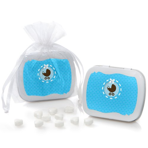 Boy Baby Carriage - Mint Tin Party Favors (Set Of 12) front-681637