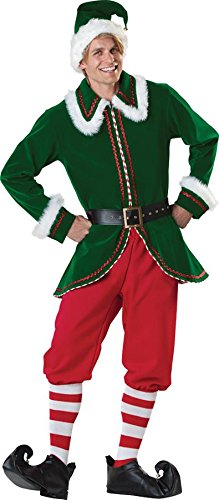 Santa's Elf Adult Mens Claus's Helper Buddy Christmas Costume