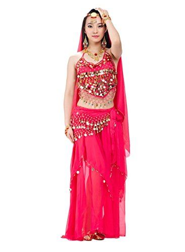 AvaCostume Womens India Belly Dance Costume Sets