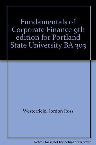 Corporate Finance (Ross, Westerfield & Jordan)