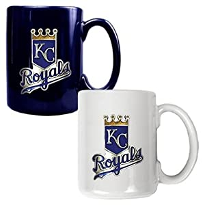 Kansas City Royals 2 Piece Coffee Mug Set (Team Colors) by Great American Products