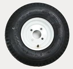 Kenda Trailer Tire/Wheel Assembly - 4-Ply Rated/Load Range B - 5.70-8 - 4 Hole Rim 30080