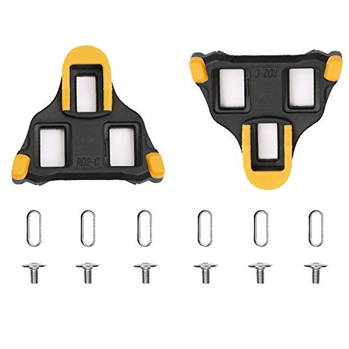 ColorGo Road Bike Cleats 6 Degree Float Self-locking Cycling Pedal Cleat For Shimano SH-11 SPD-SL Road Cleats Fit Most Road Cycling Shoes (Cycling Shoe Cleat Set compare prices)