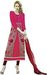 K.K BROTHERS Women's Georgette Dress Material (Peach)