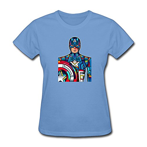 WAYNEY Costom The Avengers 2 Captain America 100% Cotton Shirts For Woman