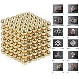 Moppi 216pcs 5mm DIY Buckyballs Neocube granos de la magia juguete magnético oro