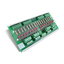 Opto 22 SNAP-TEX-FB16-H - 16-Point Breakout Board for SNAP I/O with Fuses and Bussed Power (120-240 V)