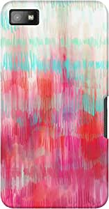 DailyObjects Abstract Aqua Pink Case For BlackBerry Z10