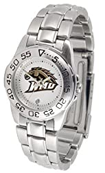 Western Michigan Broncos Suntime Ladies Sports Watch w/ Steel Band - NCAA College Athletics