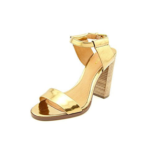 Coach Lexey Damen Gold Leder Kleid Sandalen Schuhe