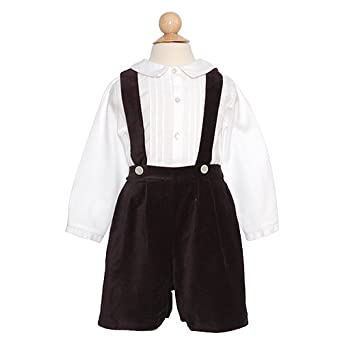 Black Velvet Baby Boys 6M Christmas Romper 2pc Shorts Outfit