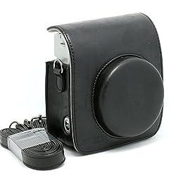 CAIUL Black Vintga PU Leather fuji mini case for Fujifilm Instax Mini 90 Case bag
