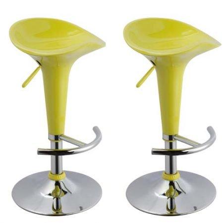 lounge-zone-2er-Set-Barhocker-Barsessel-Barstuhl-Hocker-Tresenhocker-Loungehocker-Loungesessel-BEACH-grn-Trompetenfu-Metallgestell-verchromt-Stufelos-hhenverstellbar-drehbar-mit-Fuablage-pflegeleicht-