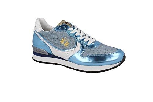 LA MARTINA SCARPA BLU SPECCHIO L1140263 40 Blue