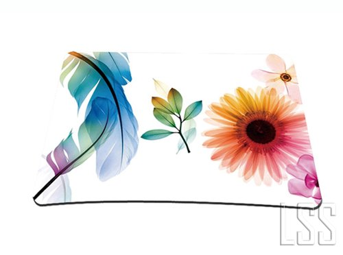 Standard-7-x-9-Inch-Mouse-Pad-Daisy-Flower-Leaves-Floral