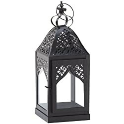 Lace Filigree Candle Lantern - 16 inches