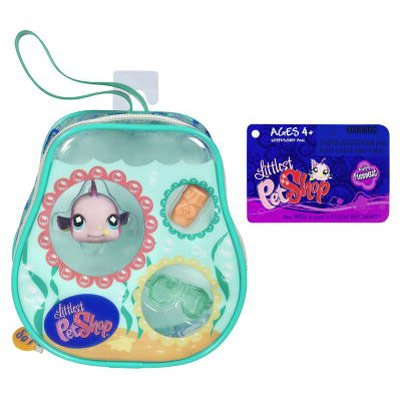 Buy Low Price Hasbro Fish #659 with Tote Littlest Pet Shop Figure Play Set (B001AKC296)