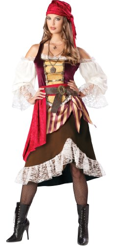 Deckhand Darlin' Premier Adult Costume (Brown) Size Large