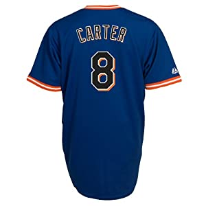 Gary Carter New York Mets Replica Cooperstown Jersey by Majestic by Majestic