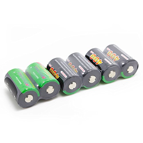 SUPEREX? 6 PCS 1 Word 3V 400mAh CR2 15270 15266 Rechargeable lithium ion LiFePO4 Batteries Li-ion Battery for digital camera photo comcorder flashlight toys