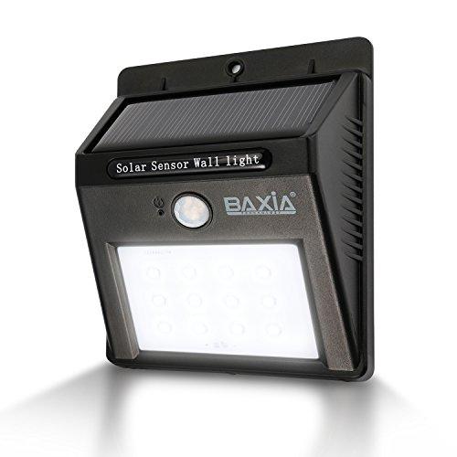 BAXIA TECHNOLOGY Waterproof Wireless Solar Motion Sensor Night Lights