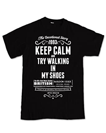 Try Walking`93 T-Shirt, Girlie Heavyweight, Tank Top (Girlie HW S, schwarz)