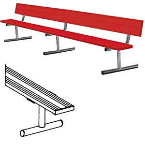 15' Color Heavy Duty Portable Aluminum Bench with Back from Titan