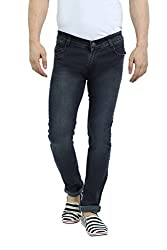 Sloper Black Narrow Fit Jeans For Men
