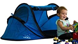 Baby Nook Travel Bed and Beach Tent (blue), Provides Shade and Shelter, Baby Sun Tent Includes EXCLUSIVE AIR BABY NAP MAT for Weight Stability and Comfort, and BONUS PICTURE GUIDE for Easy Folding