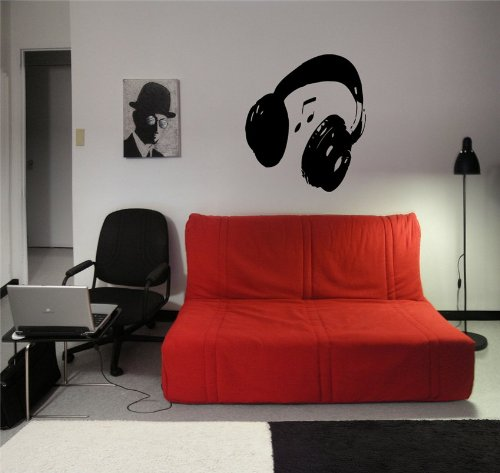 Headphones Music Wall Sticker Decals Art Mural T315
