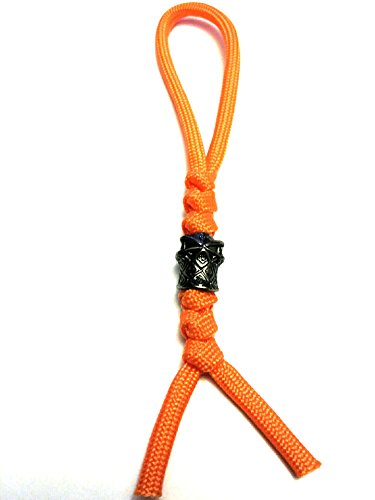 1 Ninja Bead (Sebenza, Spyderco Dragonfly) Inspired Paracord Knife Lanyards / Zipper Pulls w/ Ninja Bead