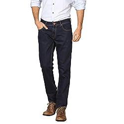 Provogue Men's Slim Fit Jeans (8903522452321_103688-BL-24_32W x 33L_Blue)