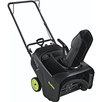 The Poulan 21-inch single stage snow thrower features a Storm Force 4-stroke 136cc engine that delivers powerful performance and effortless starting.  The 21-inch auger width and 13-inch auger diameter make short work of compacted ice and snow.  Sing...