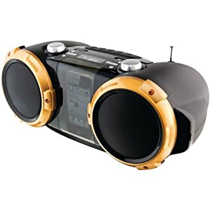 Ilive Ibp591b Blk Boombox Charge N Play Ipod Iphone Fm Radio