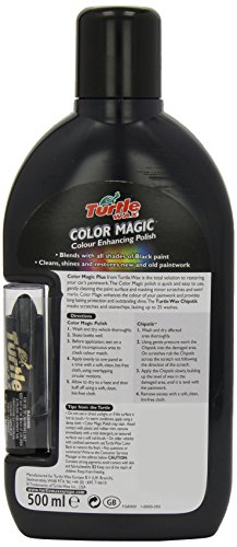 turtle wax colour magic cire voiture noir 500 ml. Black Bedroom Furniture Sets. Home Design Ideas