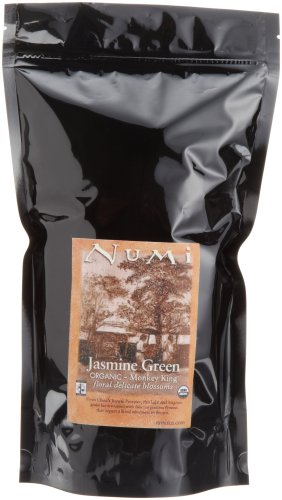 Numi Organic Tea Monkey King Jasmine Green Tea, Loose Leaf 16 oz bag (Pack of 2)