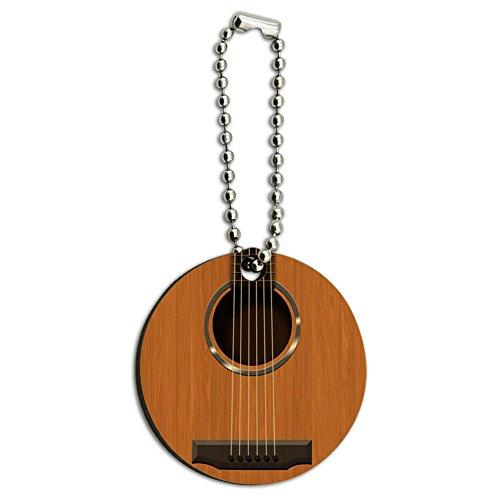Saiten-fr-Akustikgitarre-aus-Holz-rund-Schlsselanhnger