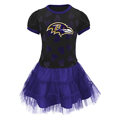 "NFL Baltimore Ravens Girls ""love To Dance"" Tutu Dress, Rave Purple, 4T"
