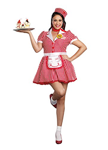 Dreamgirl Women's Diner Doll Waitress Plus Size Costume