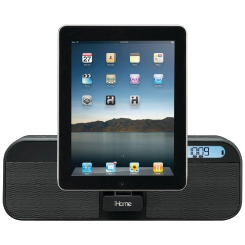 iHome Portable Speaker FM Stereo Clock Radio for Ipad Iphone Ipod - iHome ID28BZC