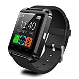 Padgene Bluetooth 4.0 Smart Watch Bracelet for Samsung S5 / S6 / S6 Edge / Note 2 / 3 / 4, Nexus 6, Htc, Sony and Other Android Smartphones, Black
