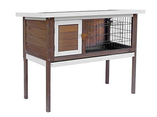 Merax-Pet-Rabbit-Bunny-Wood-House-Hutch-with-ABS-Tray-Auburn