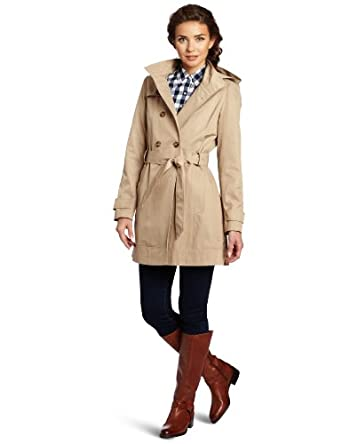 Tommy Hilfiger Women's Cora Trench Coat, Sand, Small