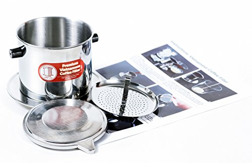 Vietnamese Dripper Coffee Machine Filter. Suitable for Trung Nguyen Coffee- Gravity Insert, Extra large (15 oz) (Kroger Coffee Maker compare prices)