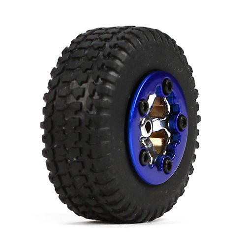 Tires, Mounted, Blue (4): Micro SCT