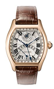 Cartier Tortue Perpetual Calendar Automatic 18 kt Rose Gold Mens Watch W1580045 by Cartier