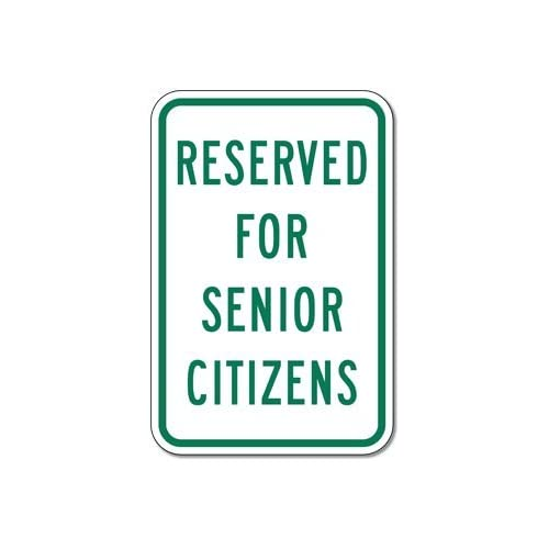 Reserved For Senior Citizens Parking Signs - 12x18 - Table Lamps