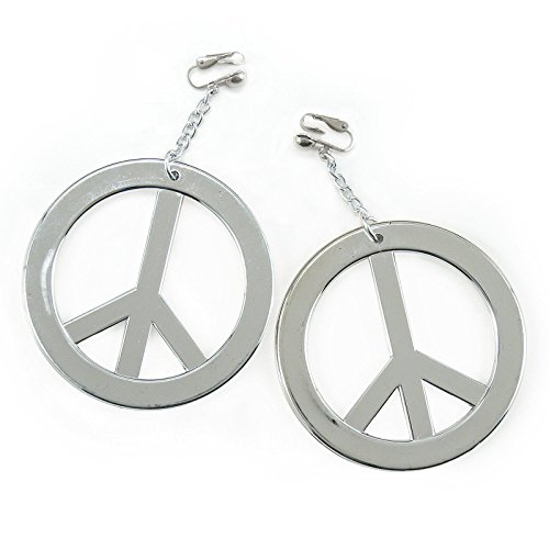 Forum Novelties ATC005751436 Peace Sign Pierced Earrings