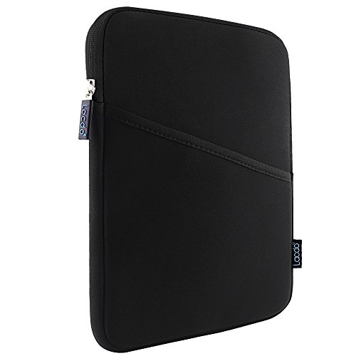 Lacdo 10.1-inch Waterproof Shockproof Neoprene Sleeve Case Cover Protective Pouch Bag for Apple iPad Air / iPad Air 2 With Retina Display / iPad 4 3 2 / Samsung Galaxy Tab 4, 3, Note Tablets / With Side Pocket Black/Black (Ipad 2 Sleeve compare prices)